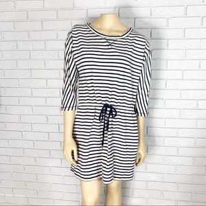 Loft Women's Striped Pullover Cotton Dress